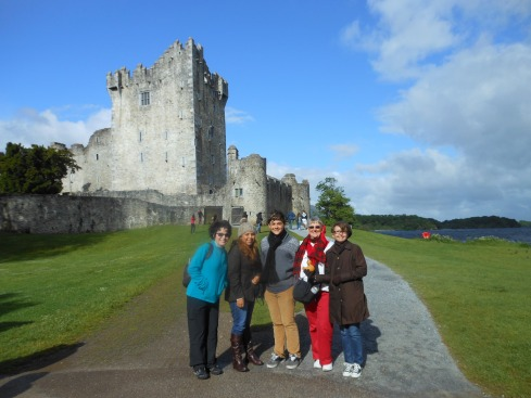 Mary Jo, Maria, Max, my mom, and I in front of Fort Ross (?) in Killarney National Park.
