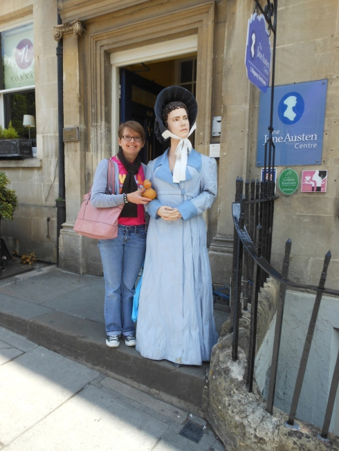 Stewart, Jane, and I at the Jane Austen Centre in Bath.
