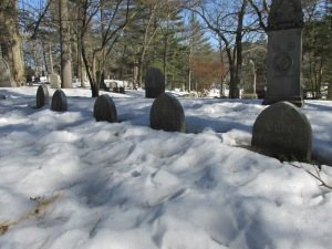 The Alcott plot at the Sleepy Hollow cemetery.