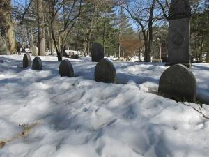 The Alcott plot at the Sleepy Hollow cemetery.