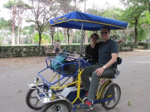 Steve and I in our pedal cart.
